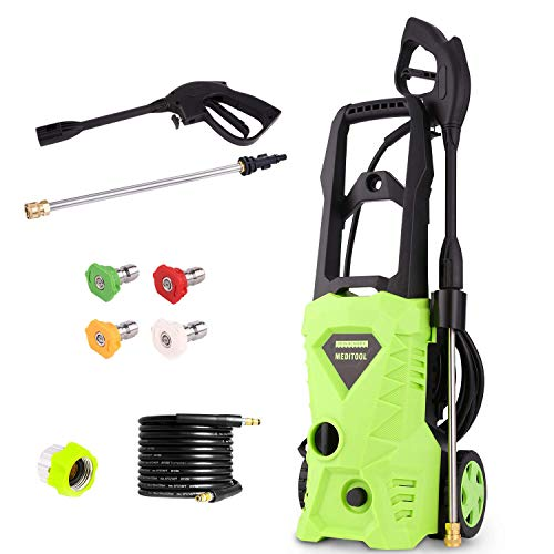 Electric Power Pressure Washer 2600 PSI 1.6GPM 1600W High Pressure Washer Cleaner Machine with Nozzles and Spray Gun