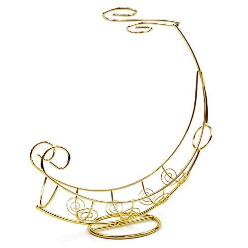Wijnflessenhouder wijnhouder, strijkijzer kunst gouden maan boot glas ophanging design, nieuw vintage rustieke metalen decoratieve ornamenten voor moderne home bar keuken tafel kerst geschenken