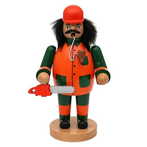 Unbekannt SIGRO Holz Räuchermann Waldarbeiter Räuchermännchen Weihnachtsfigur Räucherfigur