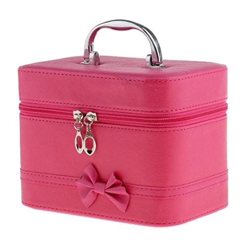 F Fityle - Estuche Portátil para Maquillaje Y Viaje - Rosado, Individual - Rosa Roja, Individual