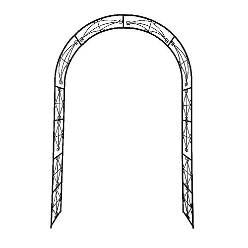 Garden Arch, 55″×14″×86″ Rose Arch Decorations for Various Climbing Plant, Outdoor Lawn Backyard, European-Style Simple Gardening, Black