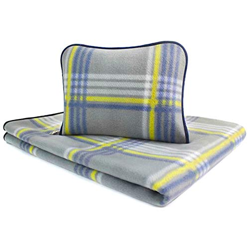 forestfish Fleece Throw Blanket Cozy Soft Portable Travel Blanket Compact for Long Car Airplane Train Rides 60  x 40 , Plaid