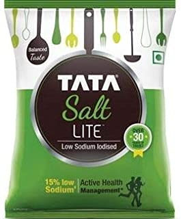 Pack of 2 - Tata Salt Lite 1 kg (35.2739907229404 Ounces Each)