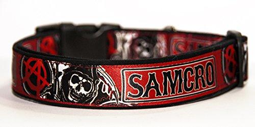 Sons of Anarchy Samcro Redwood Original Hundehalsband Handgemachte Größe XL Mit Hundeleine Multiposition Matching Collar Handmade
