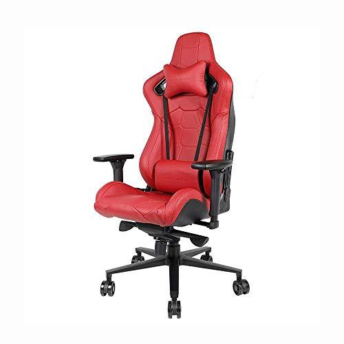 CTO Presidente de juego, la capa superior de piel Silla de juegos juegos Silla Silla de ordenador roja del trono, adultos ajustable giratoria de cuero, silla de escritorio silla de la computadora de
