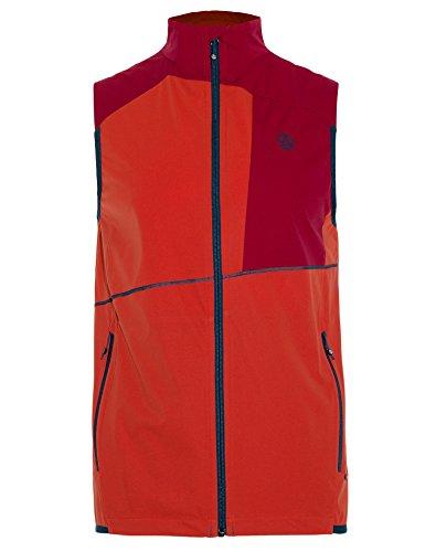 Ternua Klerner Vest Chaleco, Hombre, Multicolor (Orange Red/Burgundy), L