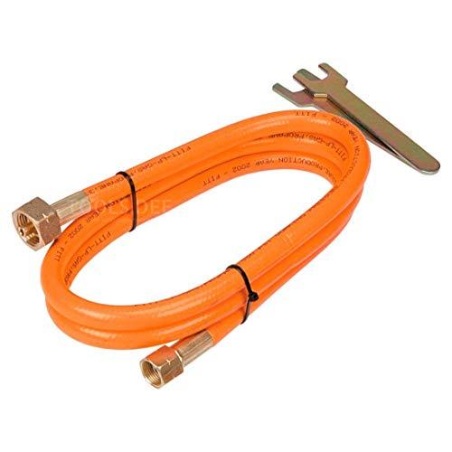 Topex Propangasschlauch mit Verbinder 2-5m Gasschlauch Gasanschlussschlauch Propan Butan Verbindungsschlauch (2m)