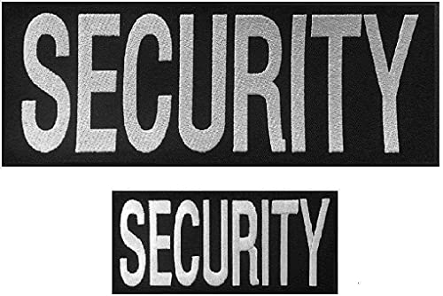 2pcs Security Patches Velcro for Vest or Jacket - Security...
