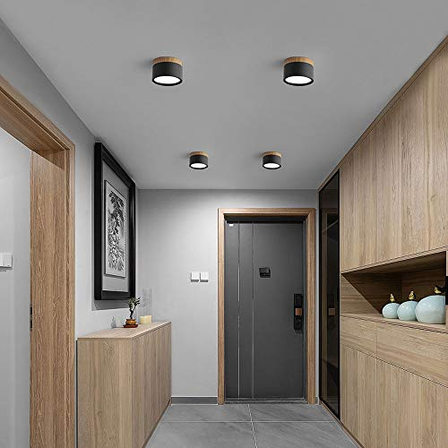 Hermoso Downlight 5W Spotlight, focos de techo LED montados en superficie, lámpara de acento de interior 4000K, acrílico de acrílico de aluminio anti deslumbramiento decoración de la iluminación de te