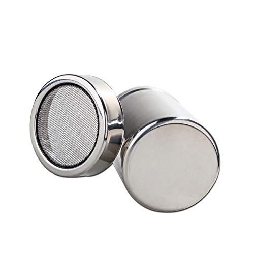 Puderzuckerstreuer, 1 Stück Edelstahl, feinmaschig, Mehldosen (Silber)