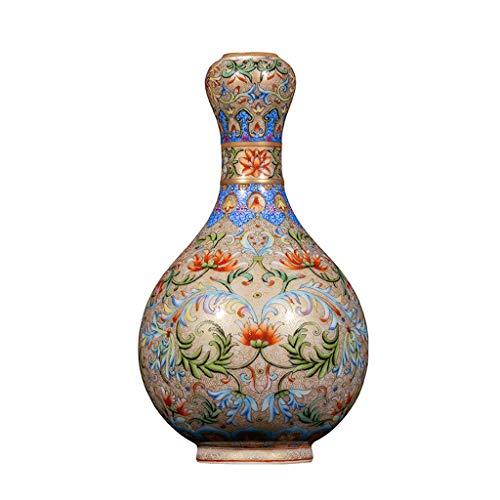 Vases Blaue und weiße Porzellanvase im chinesischen Retro-Stil. Die Keramikvase ist eine ideale Dekoration für Zuhause, Büro, Hochzeit und Party.