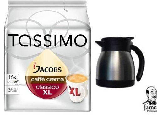 Tassimo Jacobs Krönung Verwöhnkanne alternativ ORIGINAL TEXTvon TASSIMO 2 T-Discs unserer Tassimo Jacobs XL die Getränkelänge zweier dieser T-Discs + unsere James Premium Thermoskanne