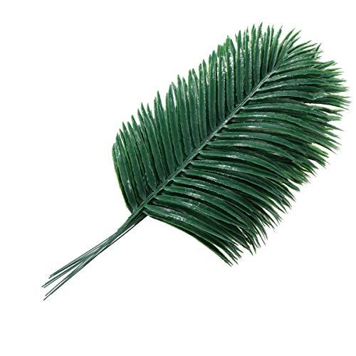 Winomo Künstliche Palmenblätter, Sagopalmfarn-Blätter, Kunstblätter, Dekoration für Haus, Büro, 10 Stück
