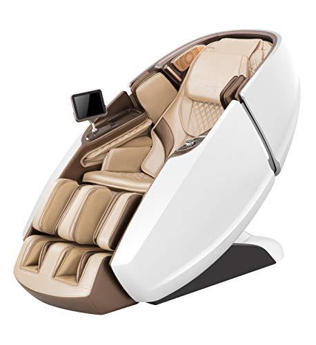 Naipo Fauteuil de massage 3D en forme de capsule - Pour tout le corps - Avec fonction chauffante, système de massage à l'air, apesanteur - Shiatsu - Pétrissage - LED - Bluetooth - Massage des mollets