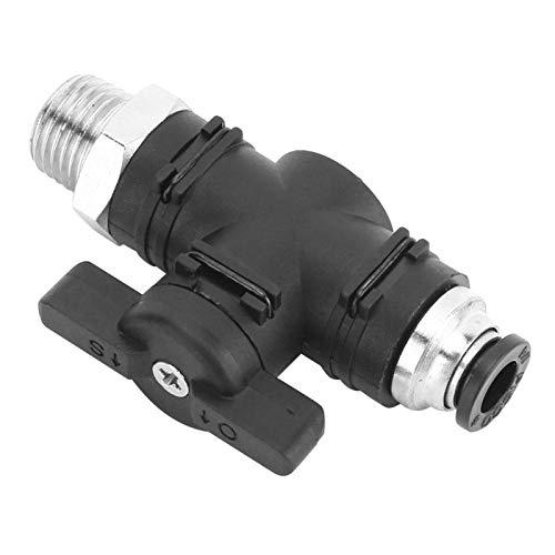 Conector rápido de montaje neumático 6mm tubo válvula de mano pequeño volumen para tubería neumática para sistema neumático (BC6-02)