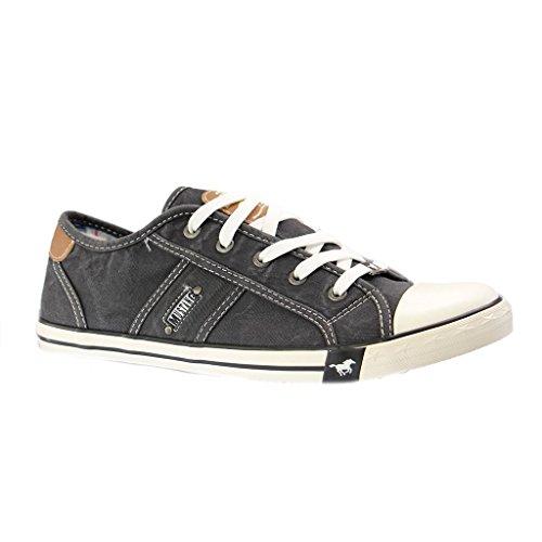 MUSTANG Damen Canvas Sneaker Schwarz, Schuhgröße:EUR 44