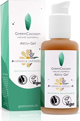 GreenCocoon Arnika & Lavendel Aktiv-Gel – vegan zertifiziertes Body Gel Naturkosmetik mit Bio-Lavendel Öl und Arnika Extrakt (100 ml)
