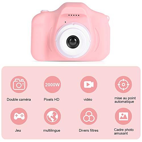 Faburo Mini-Digitalkamera für Kinder, 32 GB TF-Karte, für Jungen und Mädchen (Rosa)