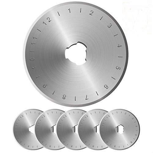 Dealkits 10 Stück Ersatzklingen, 45 mm Edelstahl Rollmesser Rundklingen
