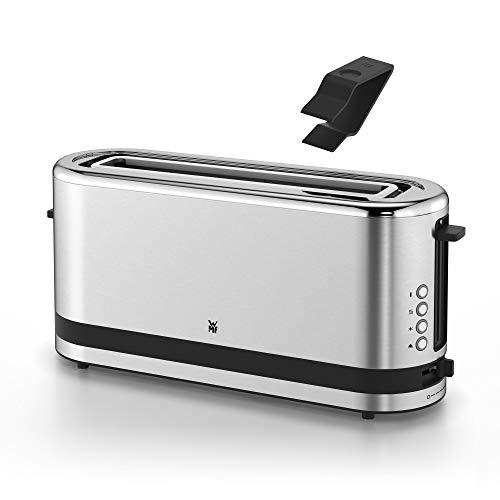 WMF Küchenminis Toaster Langschlitz mit Brötchenaufsatz, 900 W, XXL Toastscheiben, 7 Bräunungsstufen, Bagel-Funktion, Toaster edelstahl matt