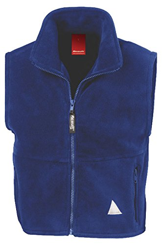 Result Re37j Polartherm Gilet sans Manches, Mixte, RE37J, Bleu Marine, 2X-Small/Size 3-4