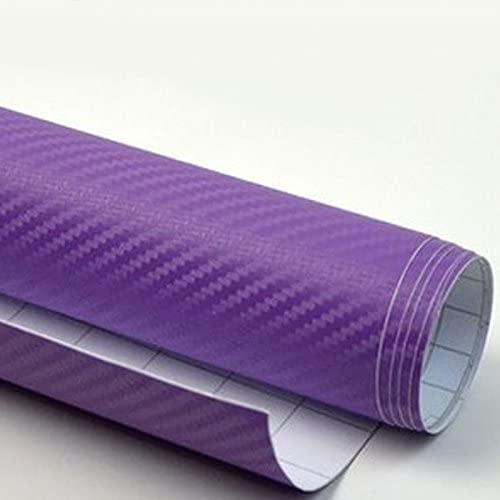 DIYAH 3D Purple Carbon Fiber Limited Special Price Film Twill Special sale item Roll W Sheet Weave Vinyl