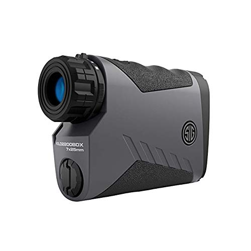 Sig Sauer Kilo 2200 BDX Laser Rangefinder 7x25 mm (3,400 Yards) - for Shooting, Hunting, and Golf - Pairs with Either BDX Rifle Scope and Smartphone App via Bluetooth