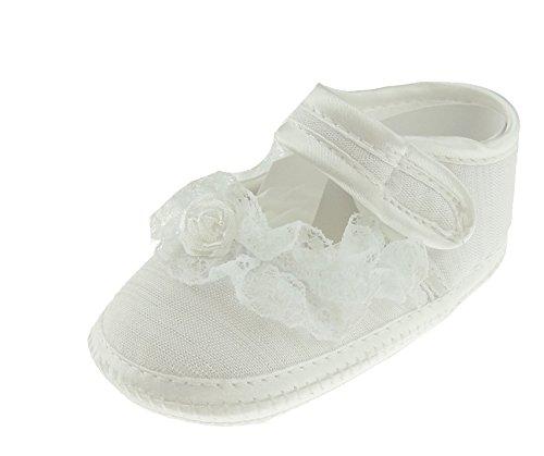 meisjes doopende wit satijn laarzen riem
