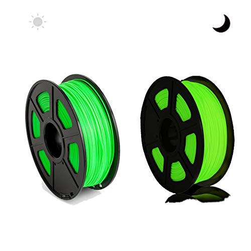 QingH yy PLA Filament 1.75mm 3d Printer Glow in the Dark Pla Filament 1.75mm, Fit FDM 3d Printer, 1kg Spool, Dimensional Accuracy +/- 0.02 Mm Glow in the Dark DYCS0820 (Color : Green)