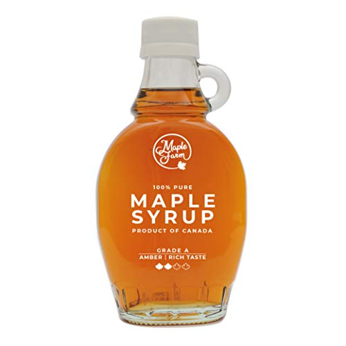MapleFarm Ahornsirup Grad A - AMBER - 189 ml (250 g) - ahornsirup Kanada - pancake sirup - ahorn sirup - kanadischer ahornsirup - pure maple syrup - reiner ahornsirup - maple syrup