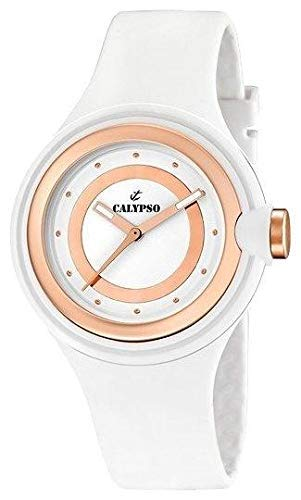 CALYPSO Reloj Analógico para Mujer de Cuarzo con Correa en Caucho 8430622546631