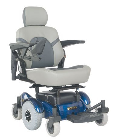Golden Technologies Golden Compass Power Chair in Blue with Both FlatFree Tires and Proflex Seat