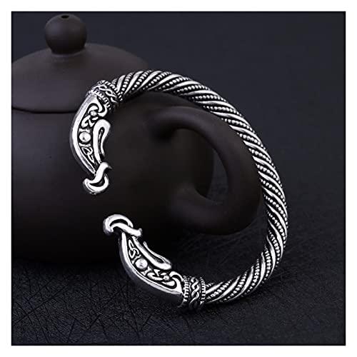 Depruies Cartier, Viking Bangle Men, Viking Shield, Vikings Ax, Viking Logo Beads, Nordic Vintage Hombres y Pulseras De Damas, Clausina De Cadena De Cuerda Negra Con Tiger Power Viking Bangle Men's Vi
