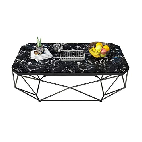 Woonkamer round salontafel 2- Tiers Marble Coffee Table Tea Table - Geometrische Gold Metal Iron Frame Stabiel Couch Bedside End Table Moderne woonkamer ronde tafel (Color : A)