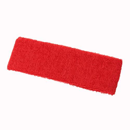 LIOOBO Sport Yoga Zweetbandjes Spa Gezichtshoofdband Make Up Wrap Hoofd Terry Doek Hoofdband Verstelbare Handdoek (Rood)