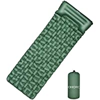 Omorc Inflatable Camping Mat with Pillow, Carry Bag and Repair Kit