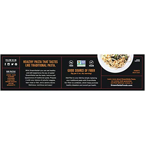 Dreamfields Healthy Pasta Living Spaghetti, 13.25-Ounce Boxes (Pack of 5)
