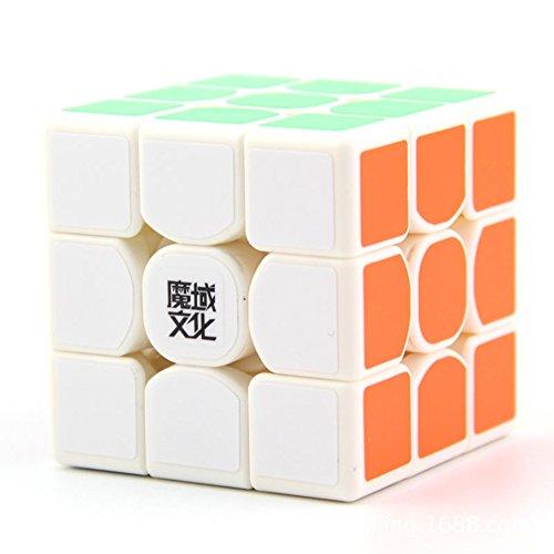 Moyu Nueva Weilong GTS profesional 3x3x3 Cubo velocidad cubo mágico con dispositivo de reproducción Cubo (blanco)
