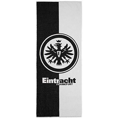 Eintracht Frankfurt Schwarz Weiss Badetuch 70x180cm (one Size, schwarz/weiß)