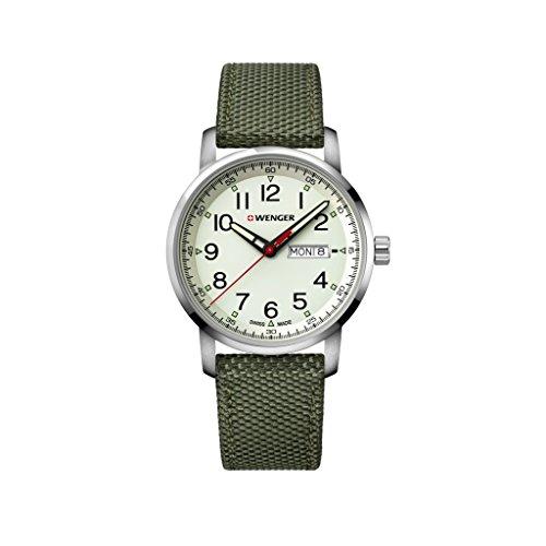 Wenger Unisex Erwachsene Analog Quarz Uhr mit Nylon Armband 01.1541.110