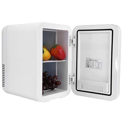 Cerlingwee Refrigerador para automóvil, Mini refrigerador de Doble Uso, semiconductor de bajo Consumo de energía 8L(European Standard 220V)