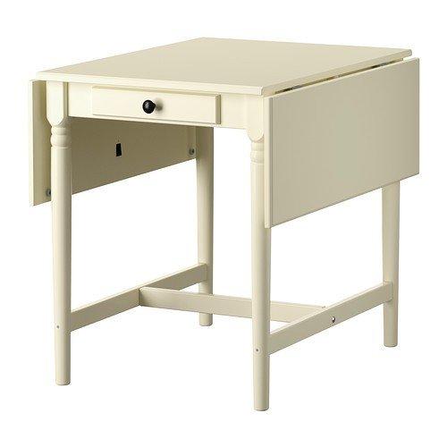 Ikea INGATORP - Tavolo pieghevole in bianco, 59/88/117 x 78 cm