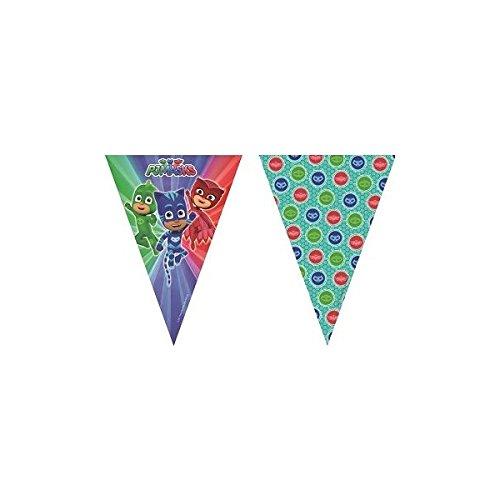 Procos- Wimpelkette Kunststoff Super Pyjamas PJ Masks, mehrfarbig, 5PR88636