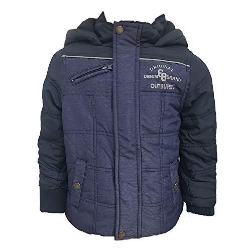Outburst - Jungen Anorak Winterjacke Kapuze, blau - 3939804, Größe 110