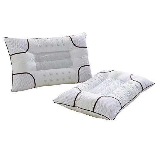 LOXBEE Funda de almohada de algodón suave, lavable, cómoda almohada para dormir para el hogar y el hotel