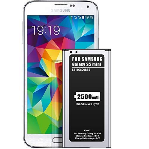 EMNT-- Batteria di ricambio migliorata per Samsung Galaxy S5 Mini, 2500 mAh