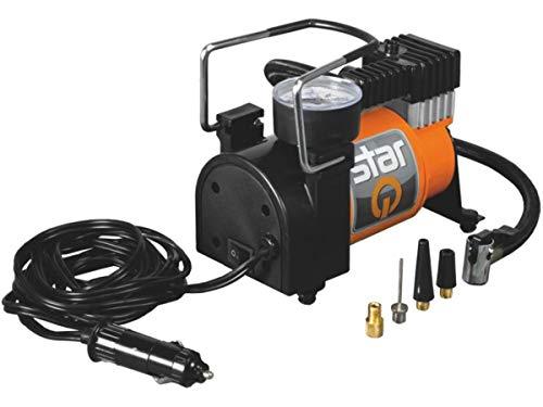 StarQ Mini Kompressor 12 V max. 10 Bar mit Manometer Luftmatratze Bälle Reifen