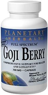 Planetary Herbals Goji Berry Full Spectrum 700mg, Botanical Elixir for Health and Longevity,180 Vegetarian Capsules