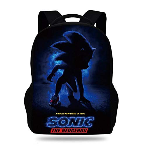 Sonic the hedgehog 3D Lightweight Travel Backpack Laptop Computer with USB Charging Port Backpacks College School Bags Outdoor Sports,1