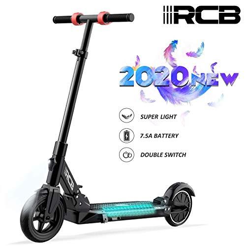 RCB Patinete Eléctrico Scooter eléctrico Plegable Ultra Ligero con Batería 7.5Ah Motor Potente Velocidad Máxima 25KM / H Altura Ajustable Neumático Antideslizante para Adolescentes y Adultos